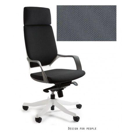 Fotel Apollo biały/ slategrey UNIQUE - ergopoint.com.pl